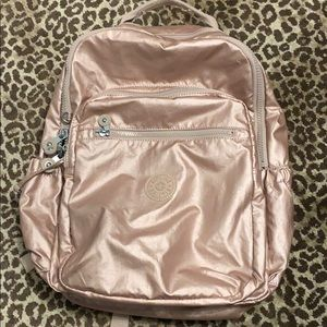 Kipling Rose Gold Computer Backpack